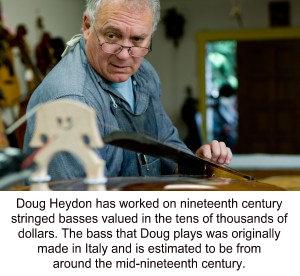 Doug Heydon repairing bass